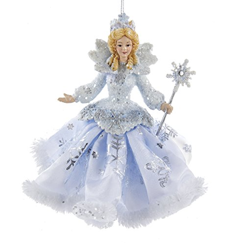 Kurt Adler Frosted Kingdom Snow Queen Fairy Ornament 6″- C8903
