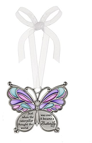 Ganz Butterfly Wishes Colored Ornament – Just when the caterpillar thought the world was over, it became a Butterfly