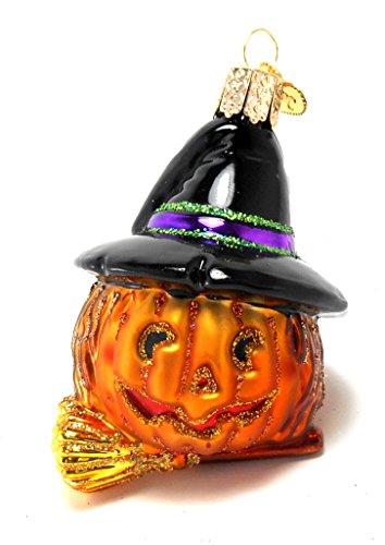 Witch Pumpkin Halloween Ornament