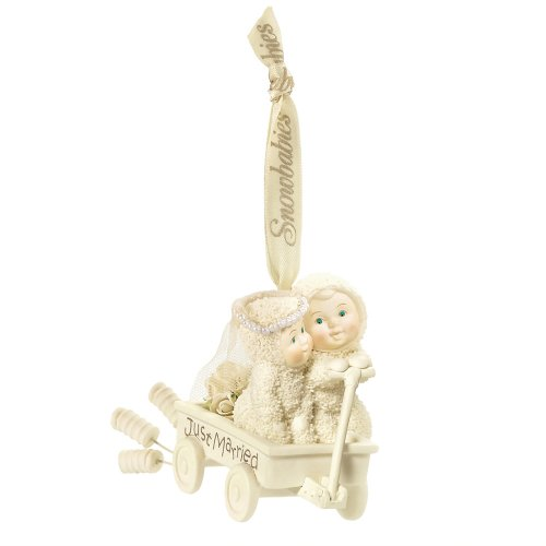 Department 56 Snowbabies Just Married Ornament