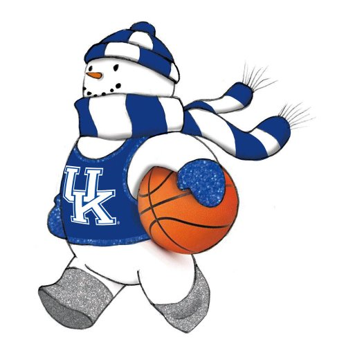 University of Kentucky Glass Snowman Player Christmas Ornament