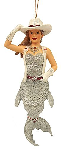 December Diamonds Casey the Cowgirl Mermaid Ornament, Collectible Gift Box