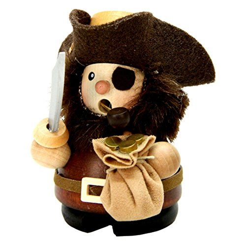 "1-669 – Christian Ulbricht Incense Burner – Pirate (Natural) – 3.75″""H x 3″""W x 2.75″"""