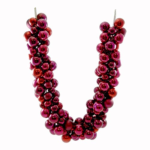 Christmas ROMANCE RED GARLAND Plastic & Metal Decoration Wreath Tree C87250215