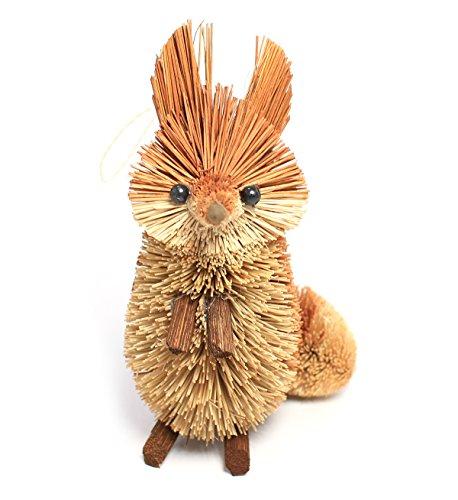 Martha Stewart Buri Bristle Brush Standing Fox Christmas Ornament