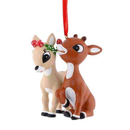 Department 56 Rudolph Rudolph and Clarice Resin Ornament, 2.5-Inch