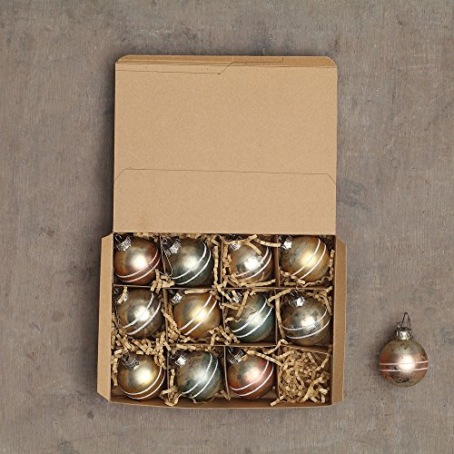 Creative Co-op XC5561 1/2″ Round Mercury Glass Ball Ornaments In Box, 4 Colors, Set of 12