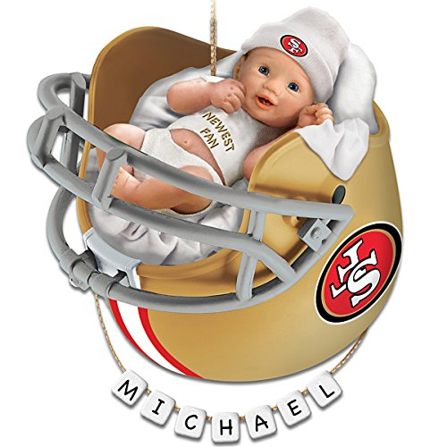 San Francisco 49ers Personalized Baby's First Christmas Ornament by The Bradford Exchange
