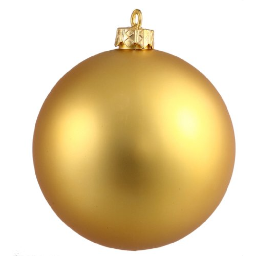 Vickerman 196731 – 6″ Gold Matte Ball Christmas Tree Ornament (N591508MV)