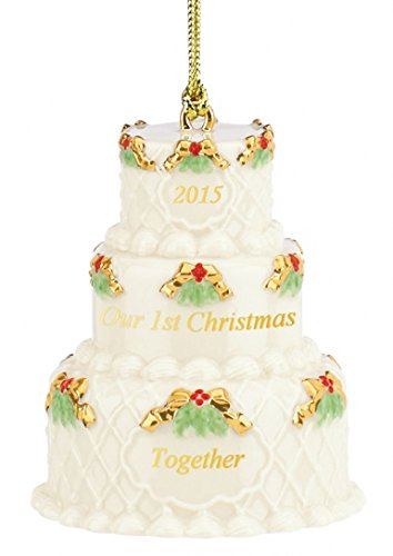 Lenox 2015 Our First Christmas Together, Cake China Ornament