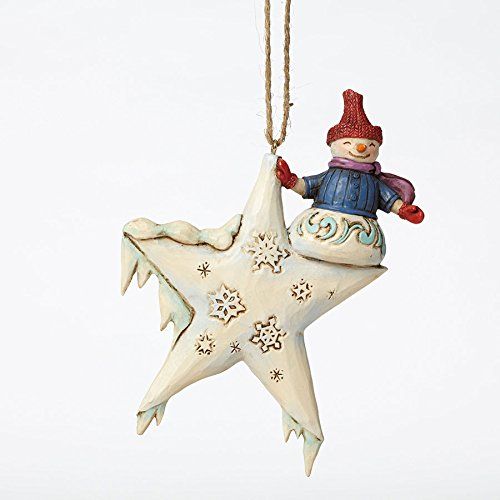 Enesco Jim Shore Snowman on Star Ornament