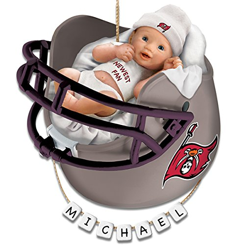 Tampa Bay Buccaneers Personalized Baby's First Christmas Ornament by The Bradford Exchange