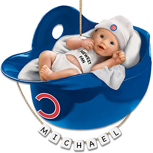 MLB Chicago Cubs Personalized Baby's First Christmas Ornament by The Bradford Exchange