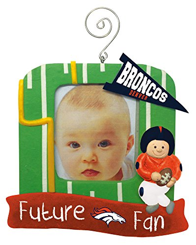 Denver Broncos Official NFL 5 inch x 5 inch Future Fan Photo Frame Christmas Ornament by Evergreen 163661