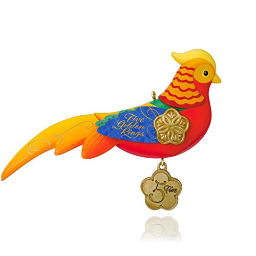 12 Days of Christmas – Five Golden Rings – Pheasant Ornament 2015 Hallmark