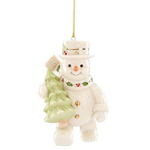 Lenox 2015 Happy Holidays Snowman China Ornament
