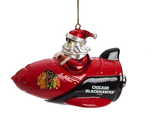 Santa Gets There, Orn, Rocket Santa, Chicago Blackhawks