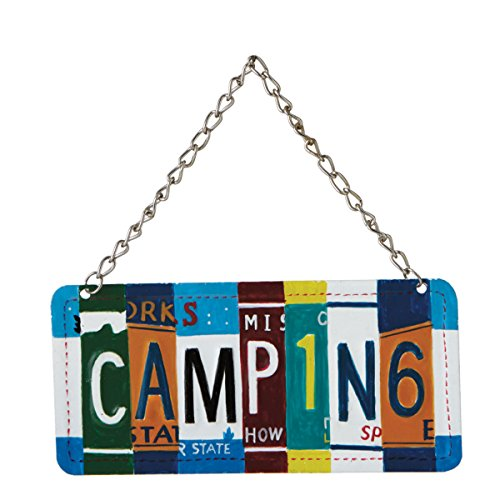 """Camping"" License Plate Collage Christmas Tree Ornament"