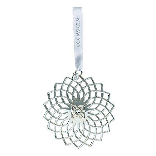 Wedgwood Filigree Snowflake Christmas Ornament, Silver