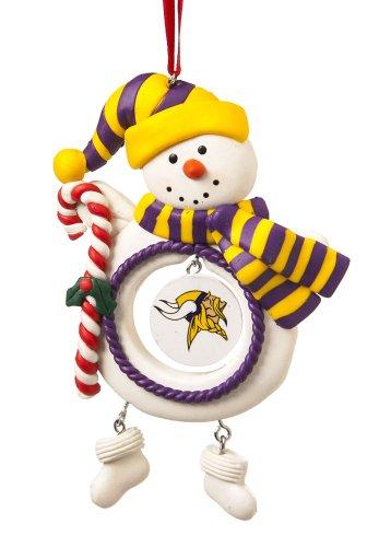 Minnesota Vikings Snowman Christmas Ornament