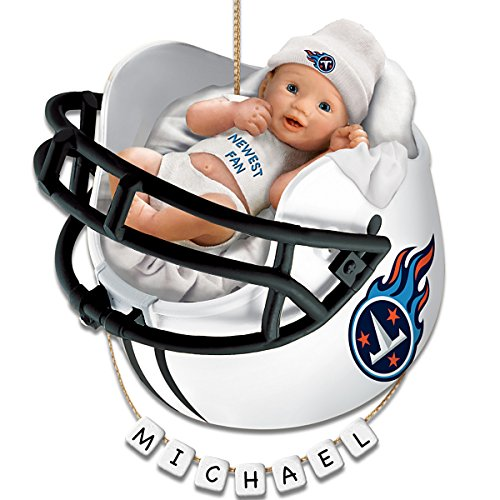 NFL Tennessee Titans Personalized Baby's First Christmas Ornament by The Bradford Exchange