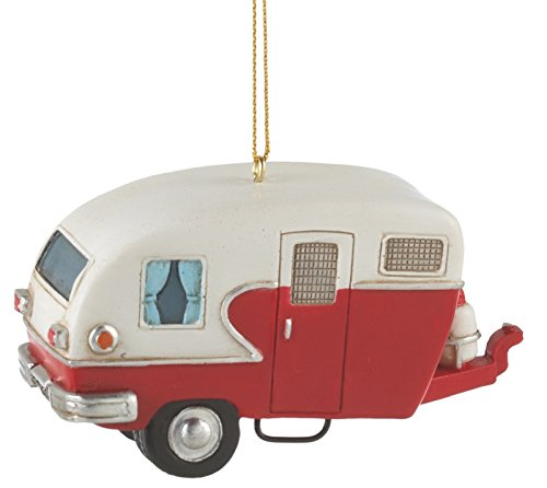 Camper Trailer Resin Hanging Christmas Ornament – Size 3.5 in.