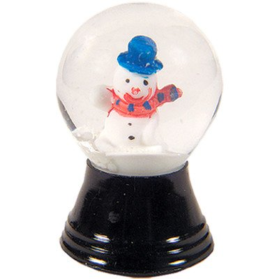 Alexander Taron Perzy Snowglobe, Mini Snowman – 1.5″H x 1″W x 1″D