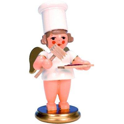 "31219 – Christian Ulbricht Ornament – Angel Cook w/meat tenderizer – 3″""H x 1.5″""W x 1.75″""D"