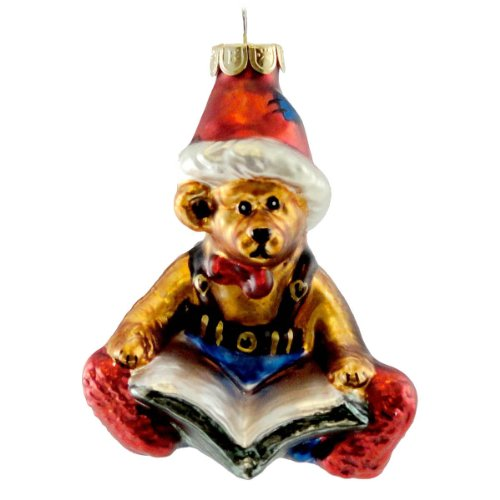 Boyds Bears Resin EDMUND ORNAMENT 391006 Christmas Glasssmith New