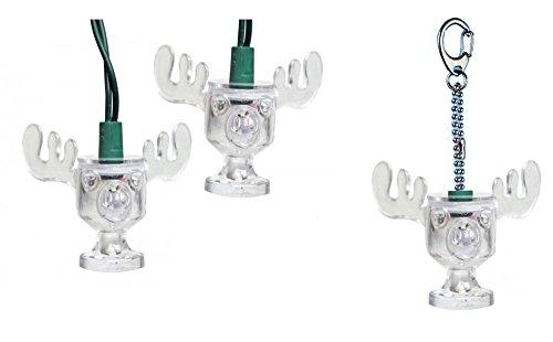 National Lampoons Christmas Vacation Set of 10 Moose Mug Style Lights and Christmas Ornament