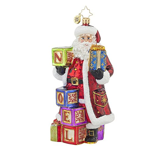 Christopher Radko 2015 Designer's Choice Simply Noel Santa Christmas Ornament