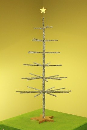 Patience Brewster Silver Tinsel Tabletop Christmas Tree
