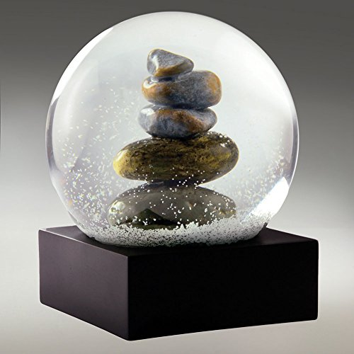 Cairn Stacked Rocks Sculpture Snow Globe By CoolSnowGlobes