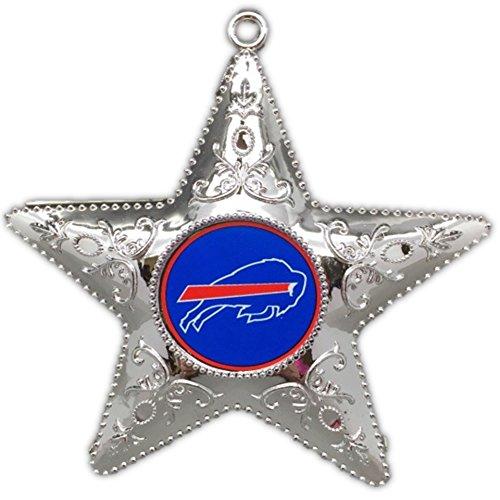 Buffalo Bills Official 4.5″ Silver Star Christmas Ornament