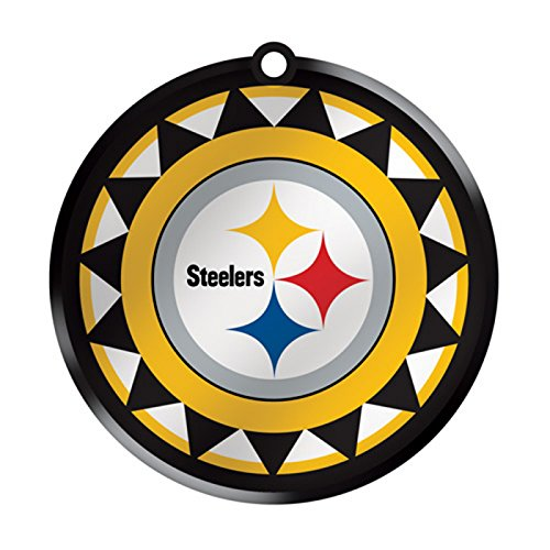 Pittsburgh Steelers Glass Logo Disc Ornament