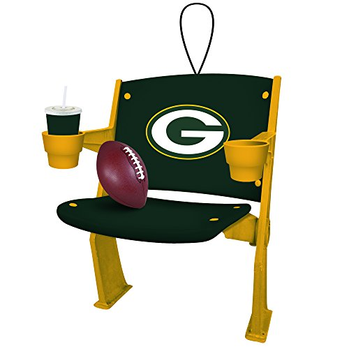 Green Bay Packers Official NFL 4 inch x 3 inch Stadium Seat Ornament