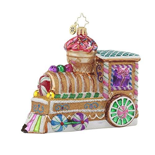 Christopher Radko Sugar Choo-Choo Christmas Ornament