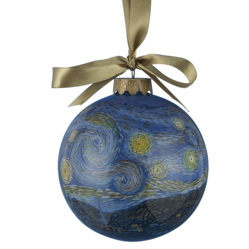 Museum Masters Kurt Adler Inside Painted Van Gogh Ball Ornament, 100mm