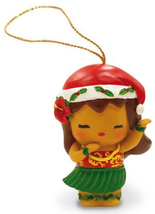 Island Yumi Hawaiian Hula Girl Resin Christmas Ornament