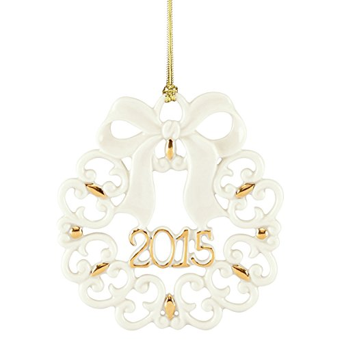 Lenox 2015 A Year to Remember Wreath China Ornament