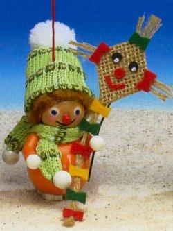 Kite Flyer Steinbach Wood Christmas Tree Ornament