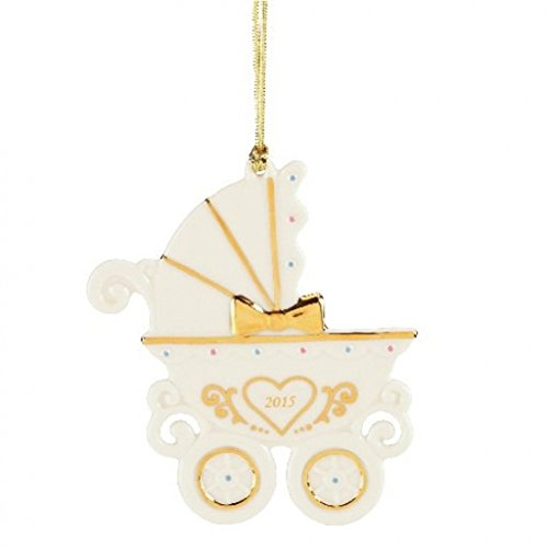 Lenox 2015 Baby's First Christmas Carriage China Ornament