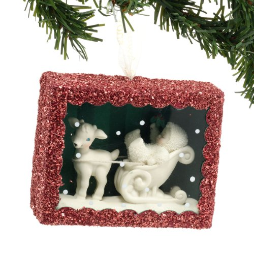 Snowbabies Sleigh Ride Box Ornament, 3.5-Inch
