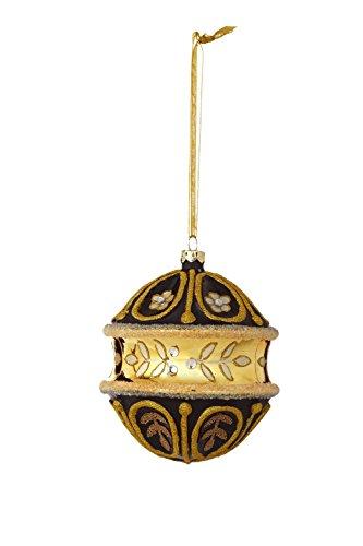 Sage & Co. XAO16923BK 4.5″ Glass Finial Pattern Ornament