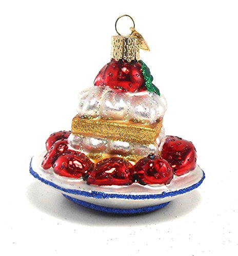 Old World Christmas Strawberry Shortcake Glass Ornament