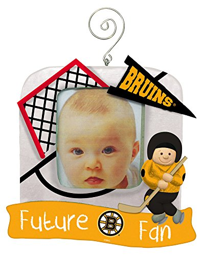 Boston Bruins Official NHL 5 inch x 5 inch Future Fan Photo Frame Christmas Ornament by Evergreen 165542