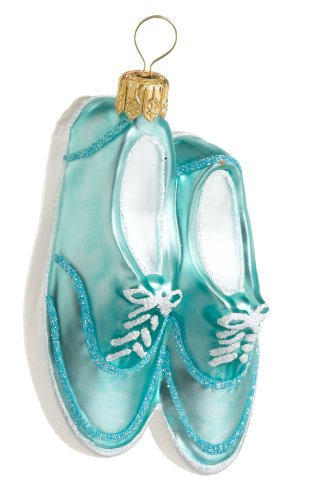 Ornaments To Remember Boat Shoes (ocean) Hand-Blown Glass Ornament