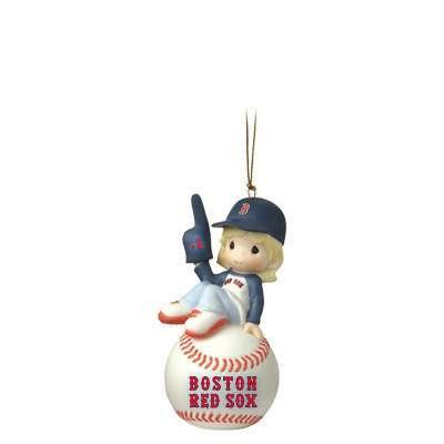 Precious Moments I'm Your Number One Fan! Boston Red Sox Girl Ornament 101055