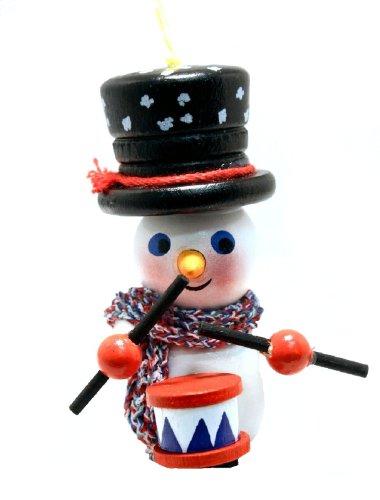2013 Steinbach Drumming Snowman German Wooden Christmas Ornament