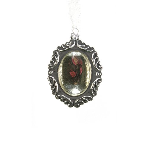 Sage & Co. XAO16950PL Glass Tarnished Mirror Ornament, 4.5-Inch